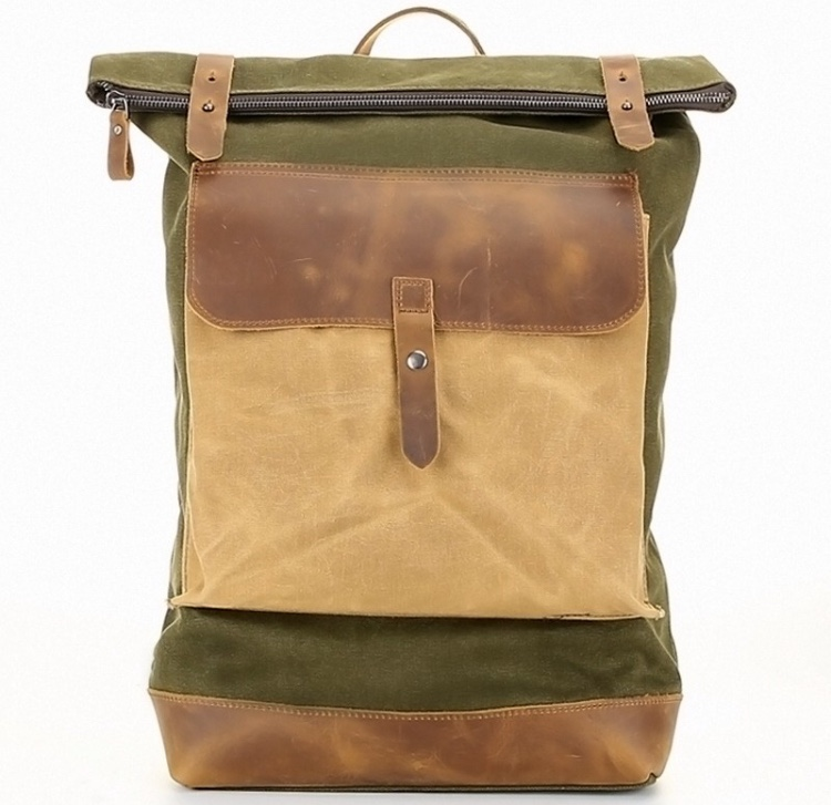 bagail canvas leather rucksack